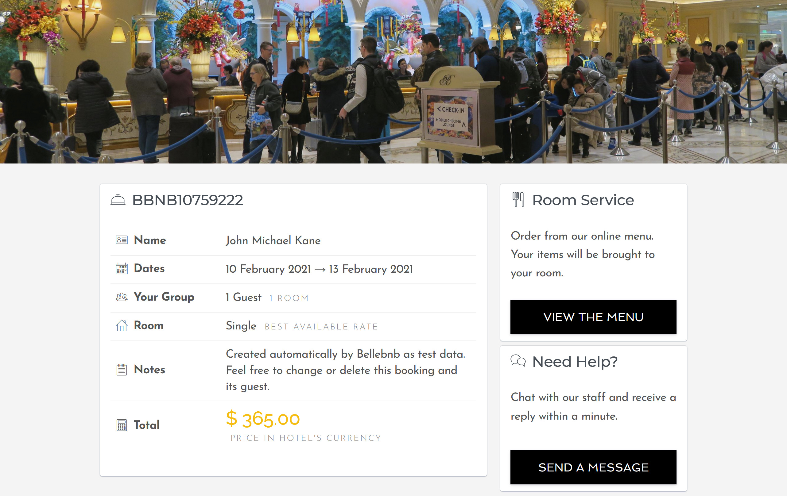 Hotel Concierge Management Software Bellebnb.