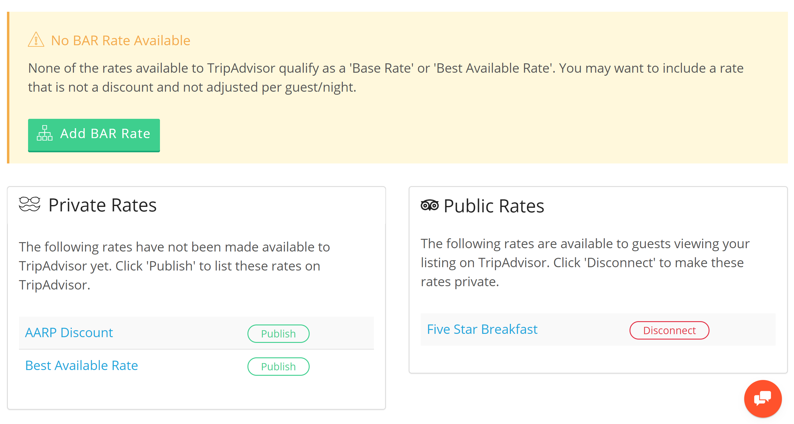 Hotel TripAdvisor TripConnect Rate Plans.