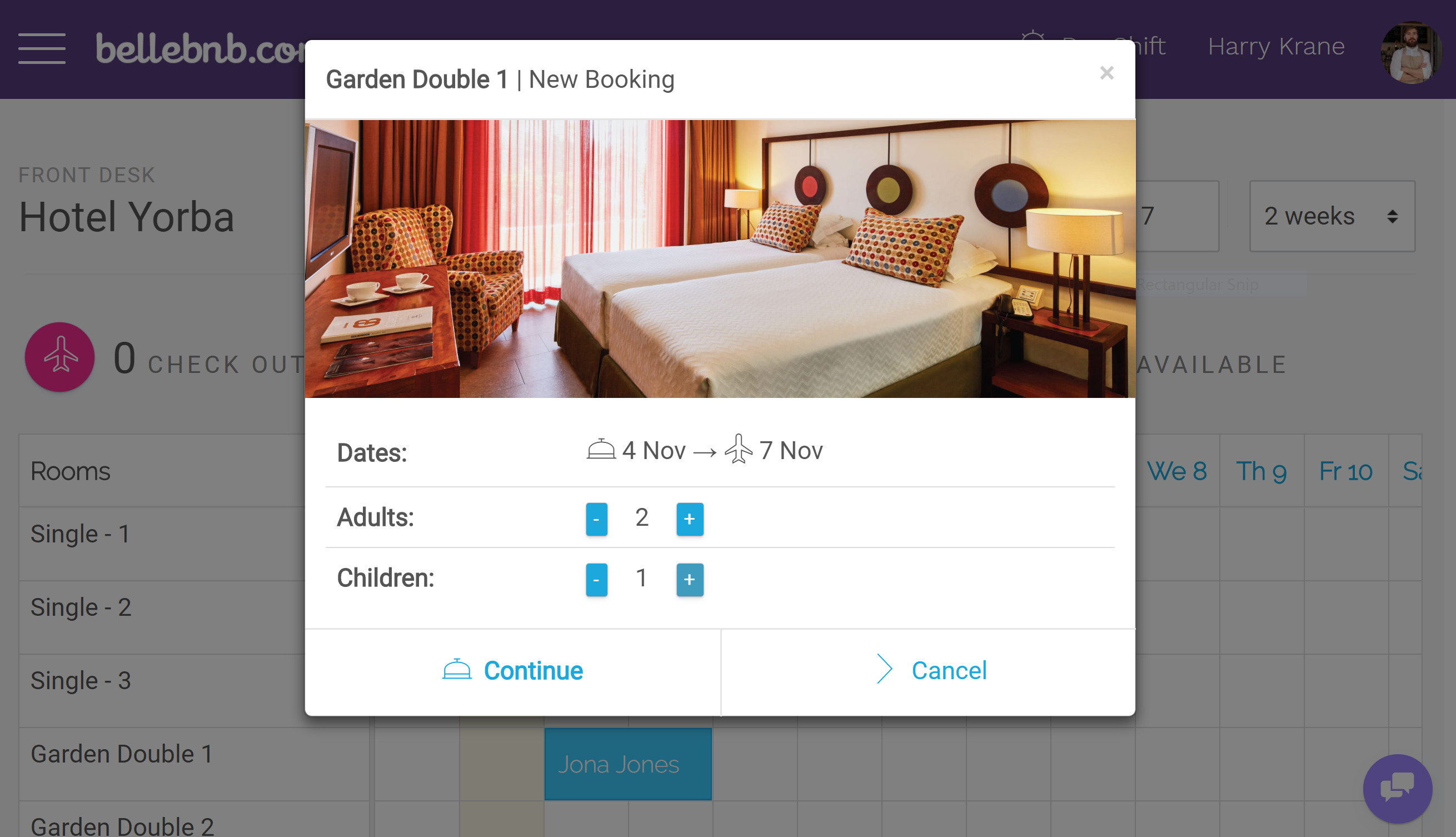 How to do A Hotel Front Desk Walk-in Reservation using Drag-n-Drop Calendar to make it even easier to manage your hotel's daily activity. You can now drag and resize to create and reschedule your hotel bookings and reservations.