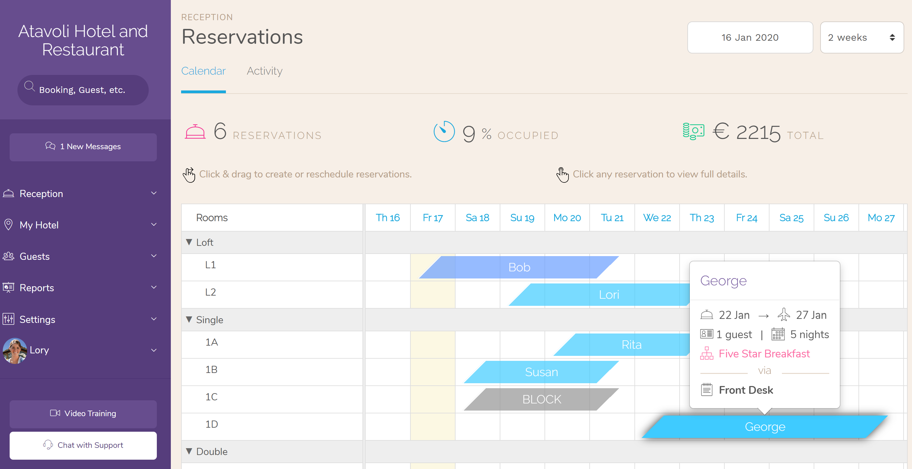 Hotel PMS Software Drag and Drop Booking Reservations CalendarFeatures. Sell more rooms, improve revenue per booking, and encourage repeat visitors.
