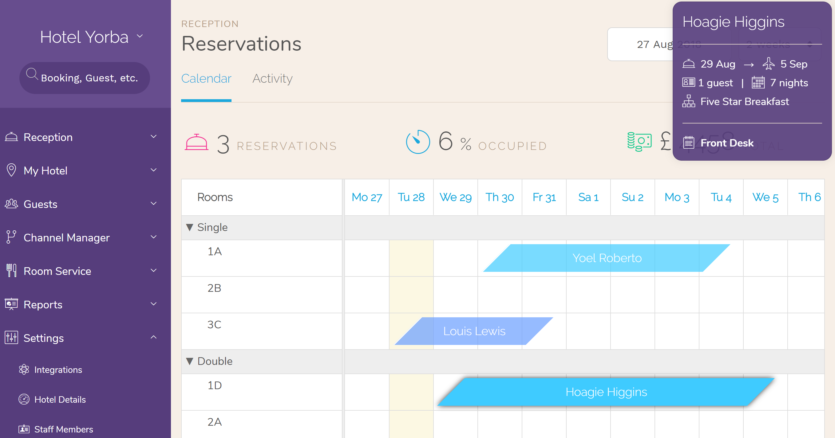 Hotel PMS Software you booking calendar is now more functional