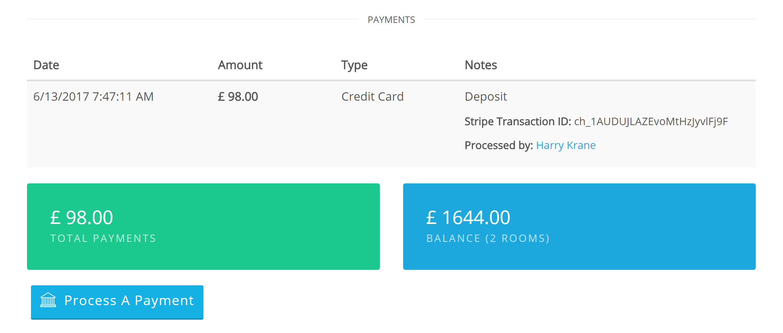 Updates to Payment Processing Front Desk manager to process payments at any point through the lifetime of a reservation. This means you can now accept deposits and partial payments from the time a booking is created, until it's checked out. Bellebnb is a complete property management system for your Hotel. Sign up for free!.