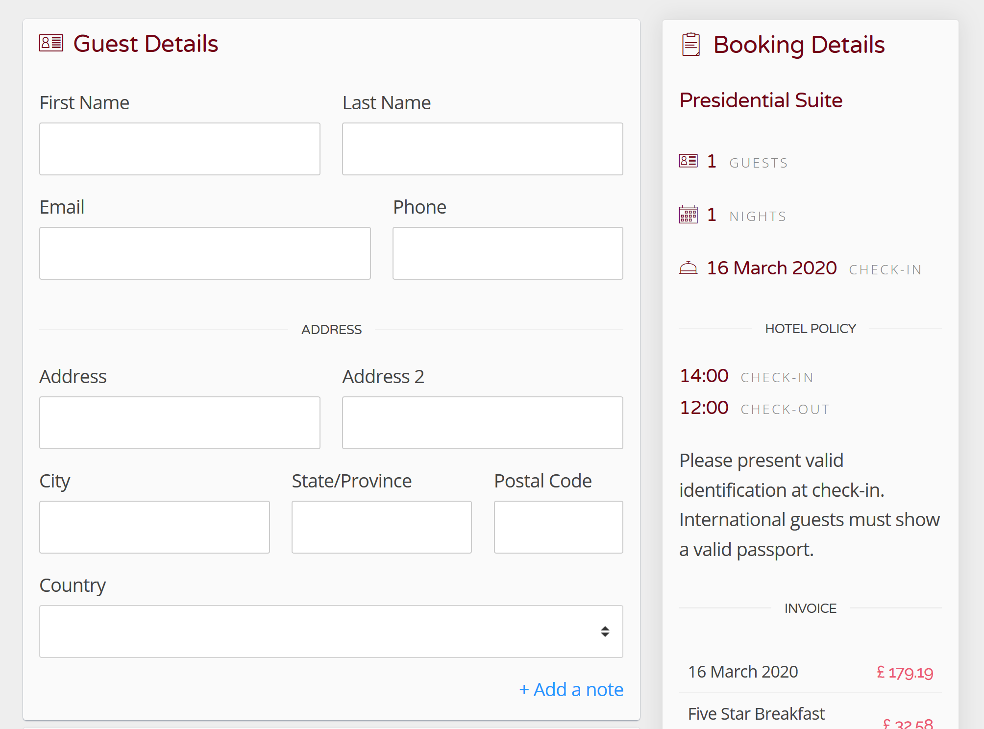 Create a Test Booking This step is not required, but you may want to get an idea of how your Booking Engine will look to your visitors