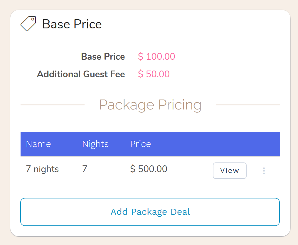 Hotel Booking Engine with fixed price package deals. Hotel Fixed price package deals allow you to offer special pricing packages to your guests for extended stays