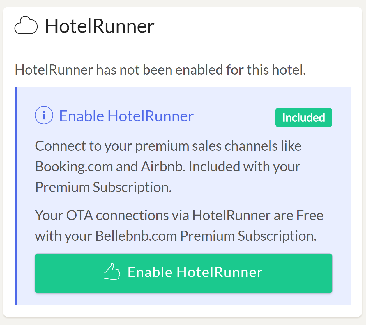 Enable HotelRunner