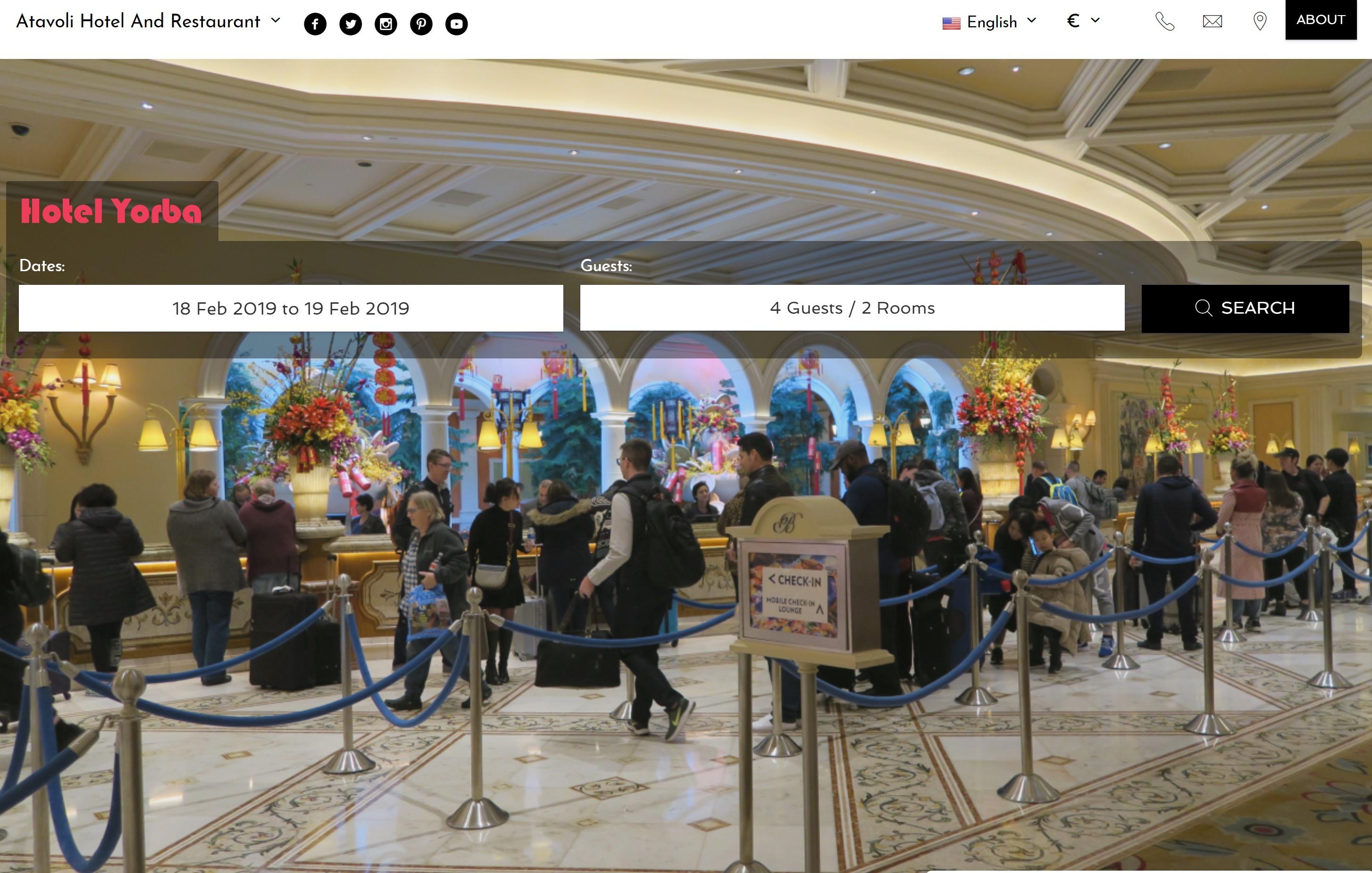 Hotel Website Design and Hosting, Website Hosting for B&B and Hotels.