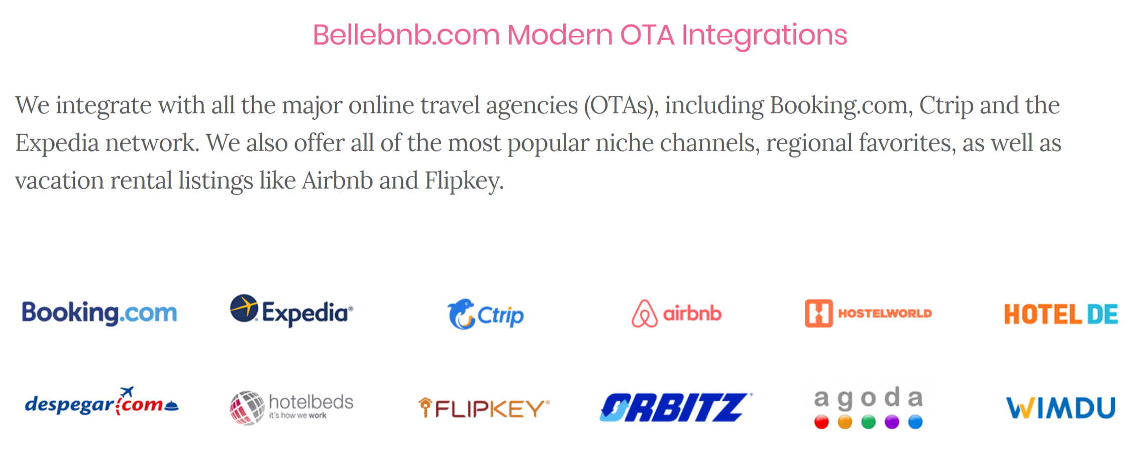 Hotel Channel Manager ✓ OTA's: Booking com, Expedia