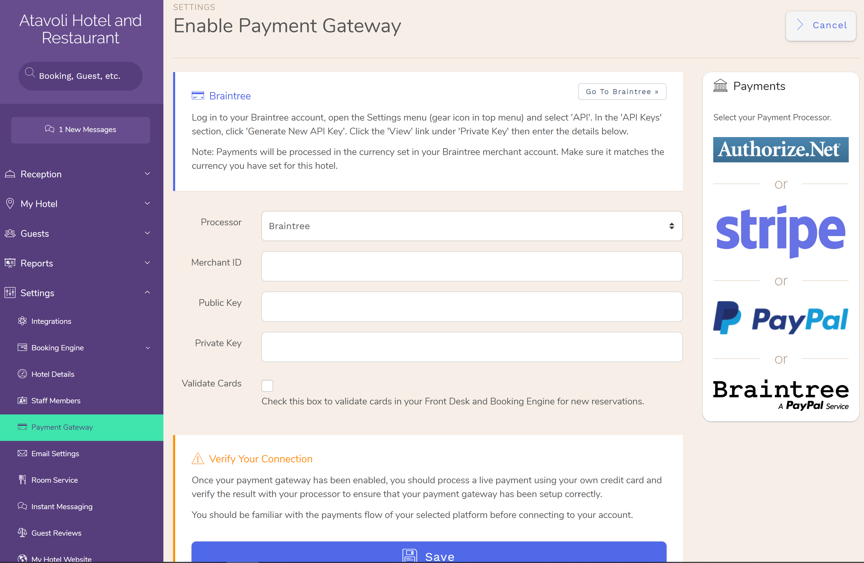 How to Enable Hotel Payment Gateway and Accept Credit Cards