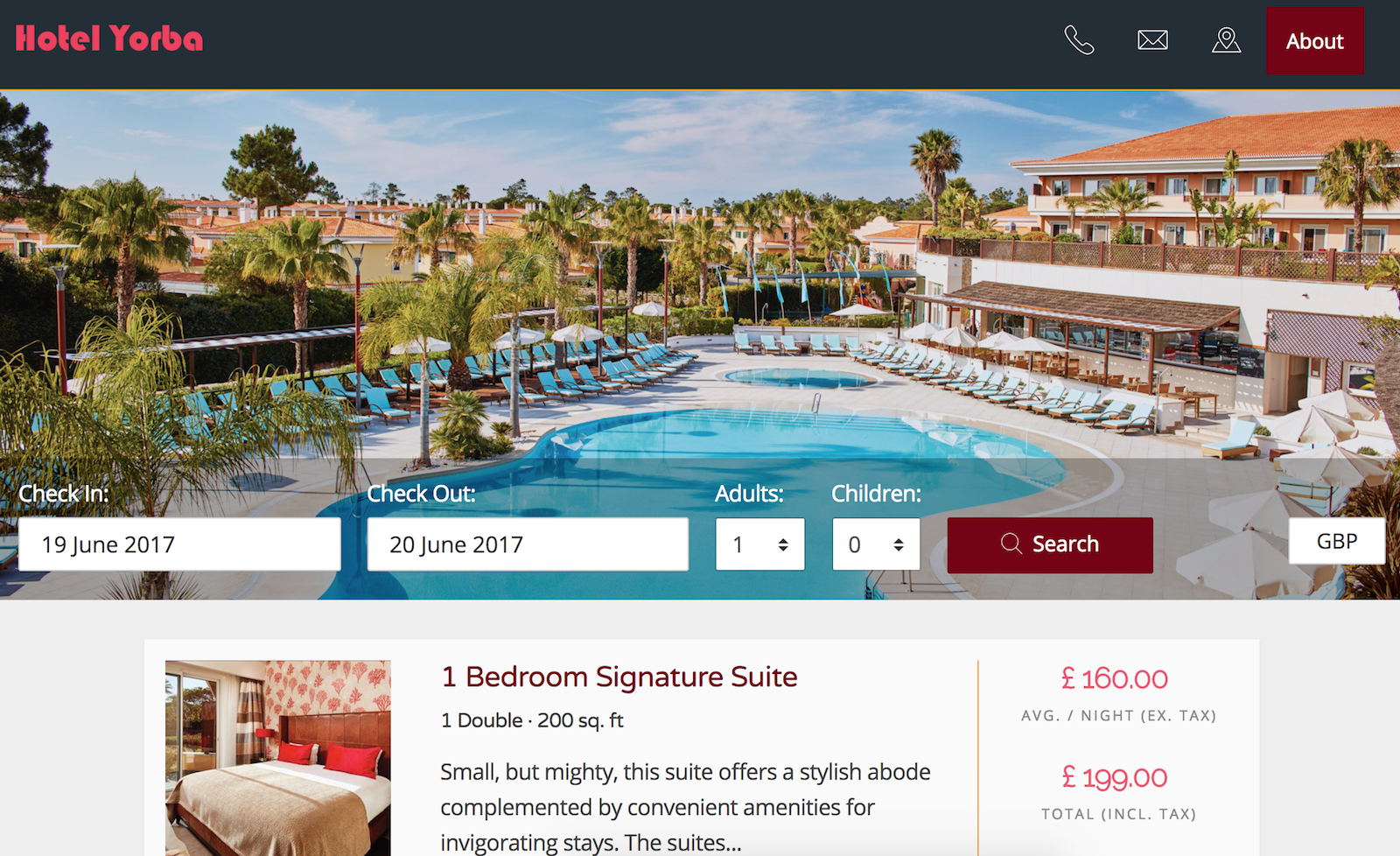 The theme defines a layout style. Hotel PMS Match to your Hotel Brand