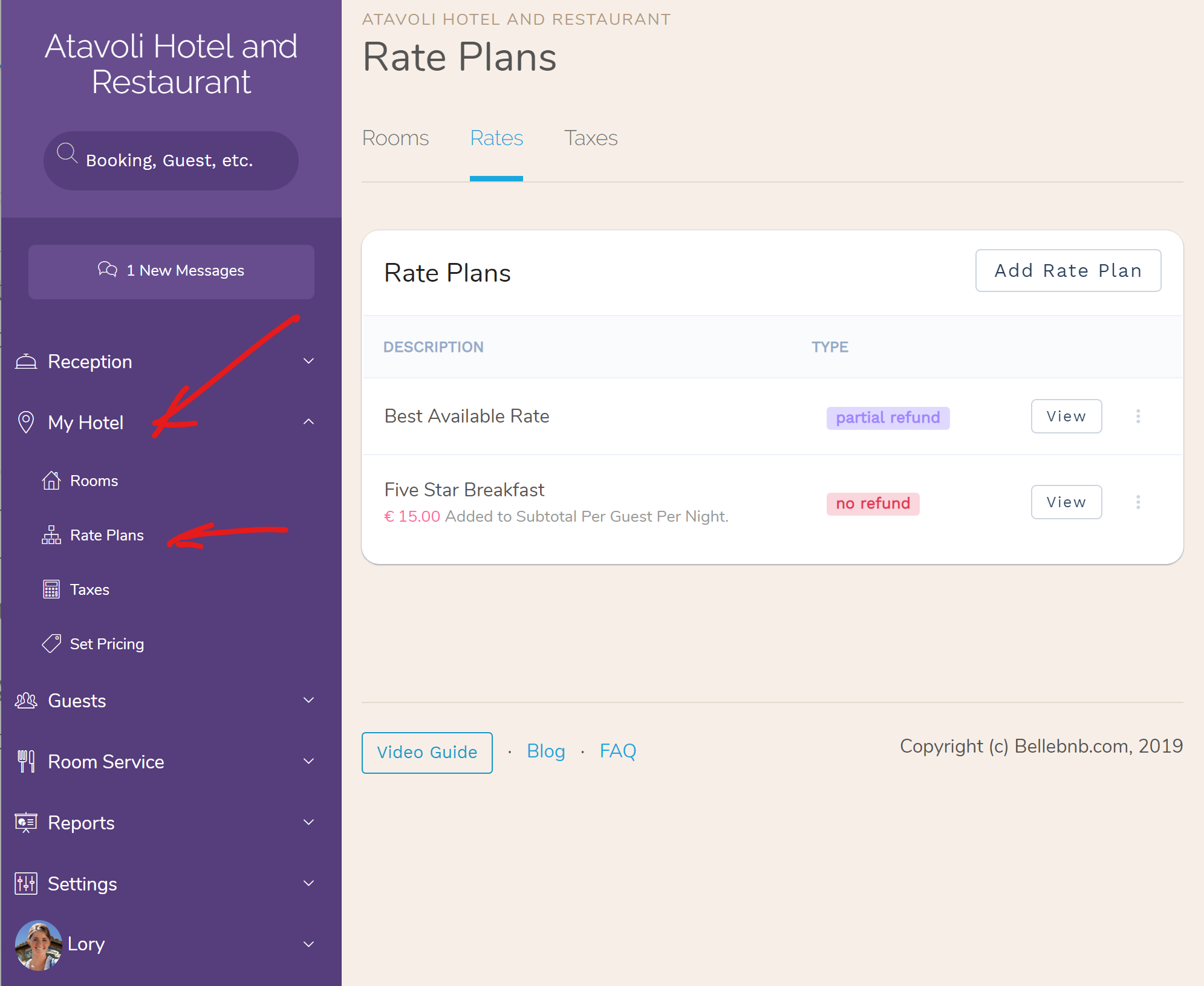 Hotel Value-added/Per Guest Rate Plans