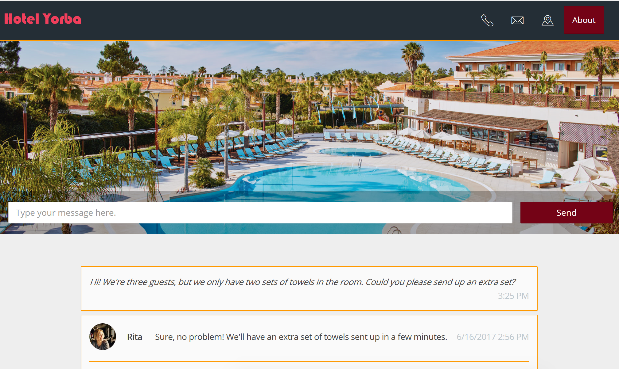Hotel Guest Services Portal