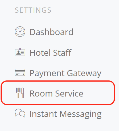 Hotel Room Service Menu in the Cloud