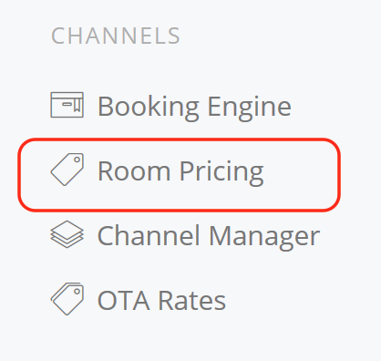 Channels Manager Set Price by Room Rate day Channel