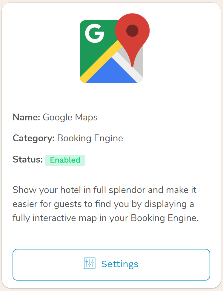 Google Maps for hotels