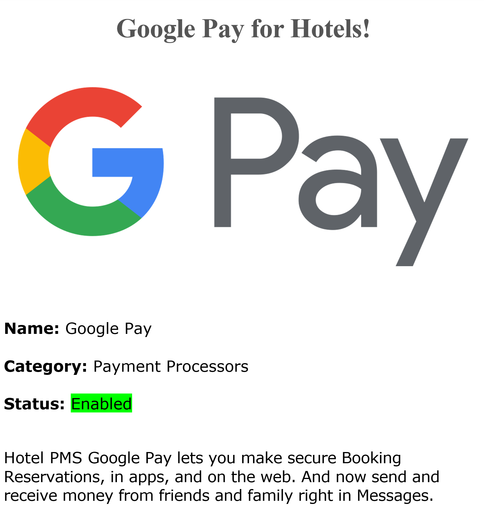 Google Pay Credit Cards Payments Processing   Android Google Pay Credit Cards Payments Processing for hotels and b&b