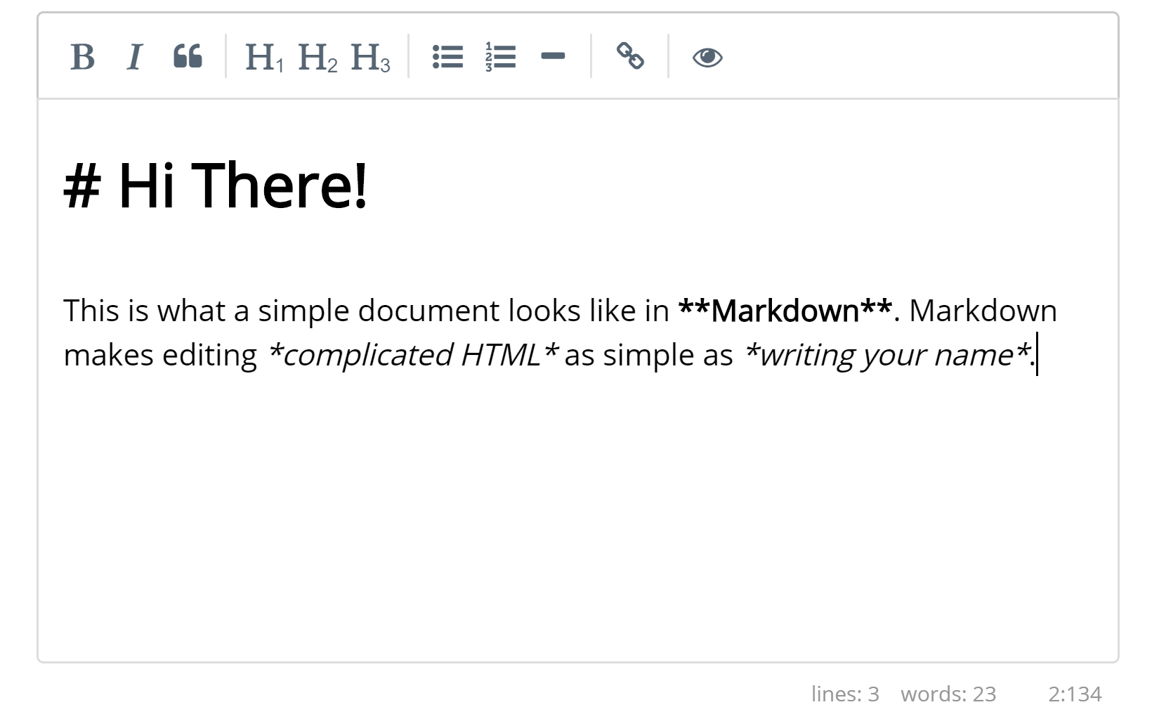 Edit in Markdown HTML