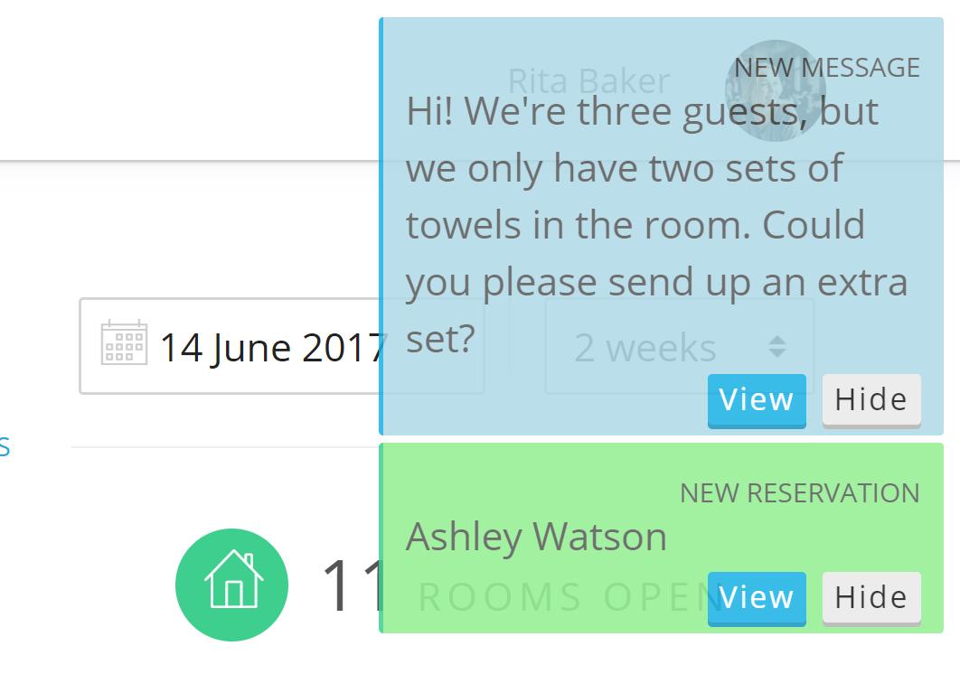 אפשר העברת הודעות מיידיות למלונות