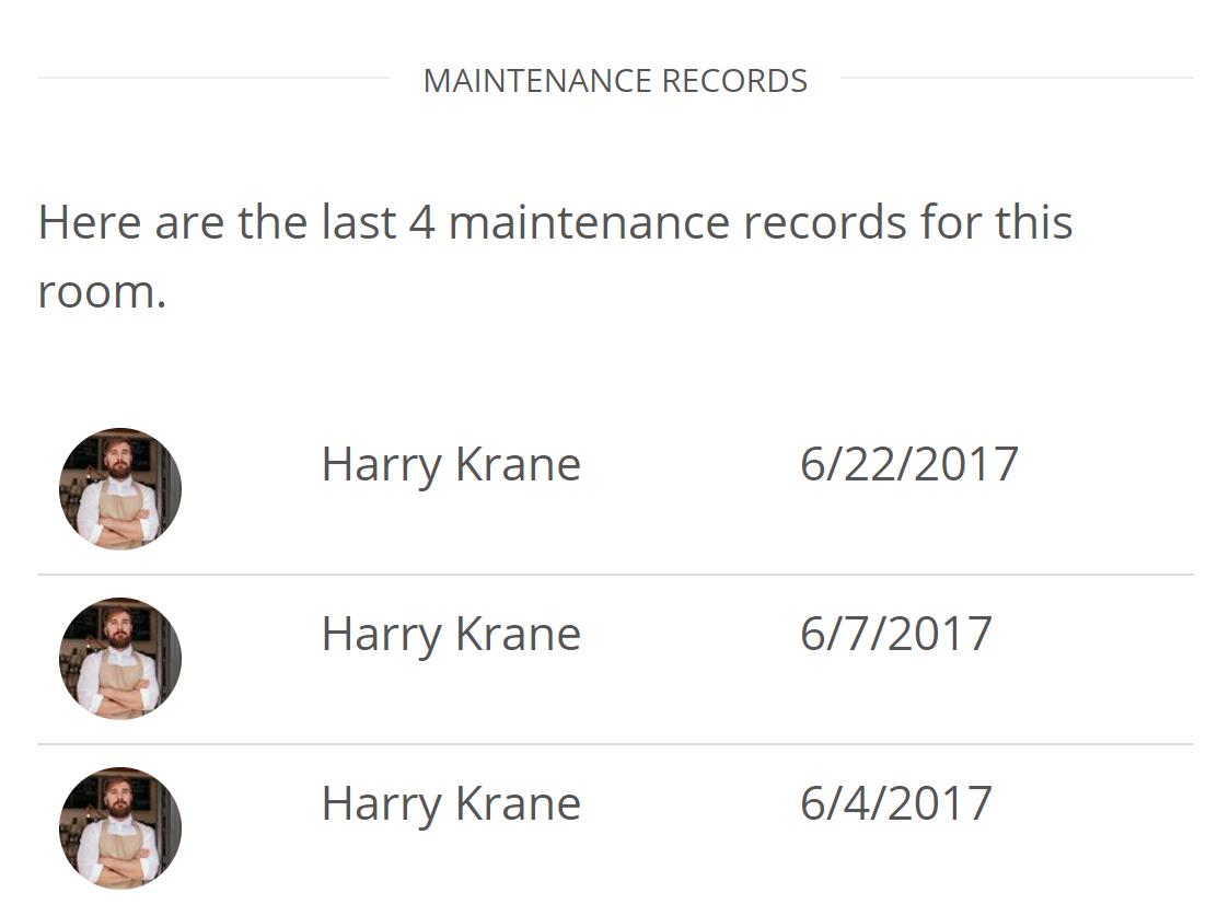 Statistiques de maintenance complètes