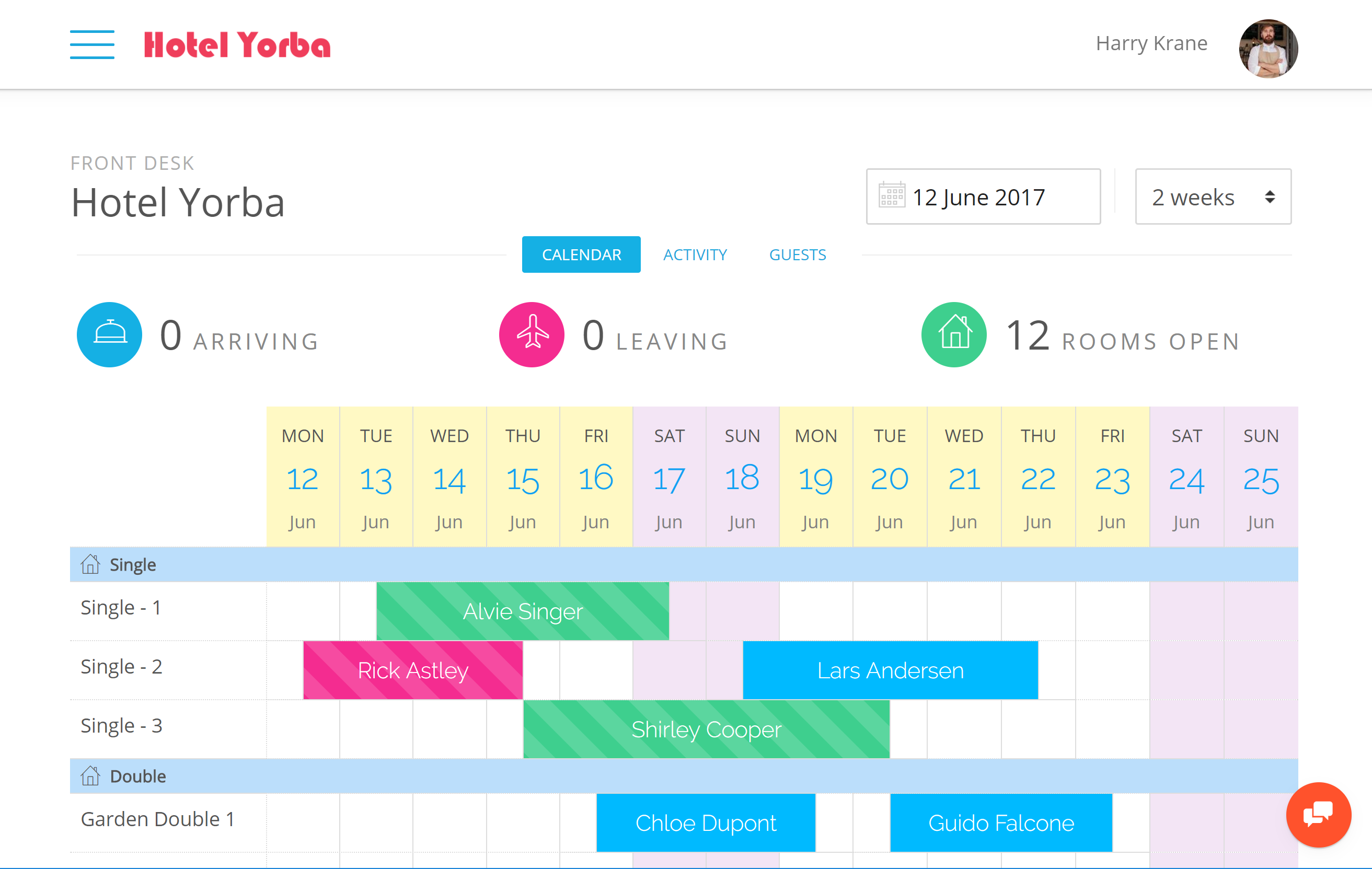 Smart booking grid