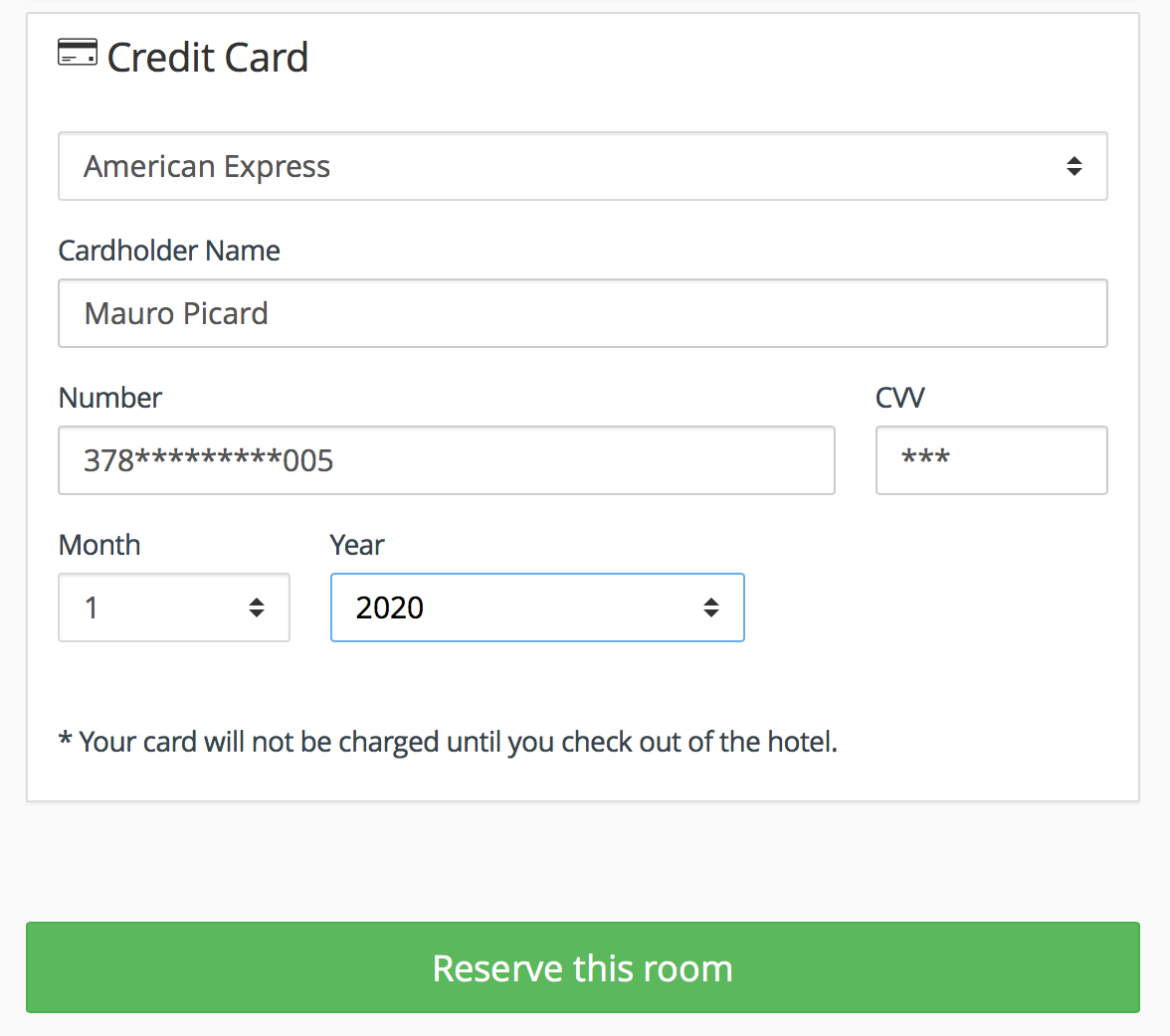Payment gateway for Hotel booking engine